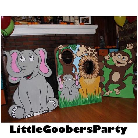 facebook themes safari jungle birthday party prop jungle cutout safari face