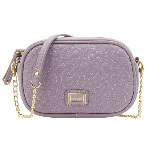 Quilted Crossbody Bags by Nine West Quilted Chain Crossbody Bag In Pink Hyacinth
