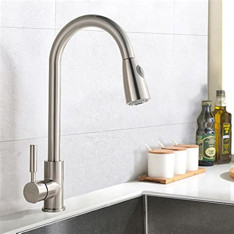 industrial kitchen faucets stainless steel best commercial stainless steel single handle pull down