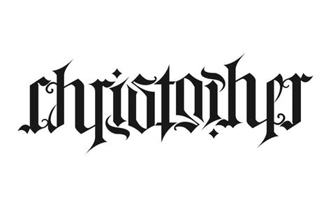 tattoo fonts net ambigram ambigram christopher wordplay n ambigrams