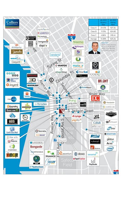 seattle map pioneer square pioneer square tech map where are tech companies hanging