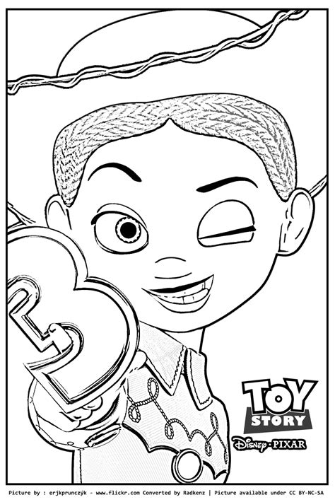 toy story 2 jessie coloring pages az coloring pages