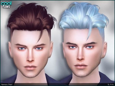 sims 4 male hairstyles harmony hair by anto at tsr 187 sims 4 updates