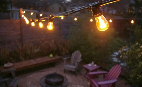 How To String Patio Lights Commercial Outdoor Patio String Lights Decor Ideasdecor Ideas