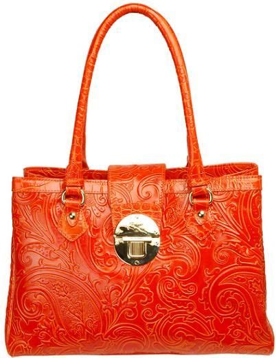 Etro Paisley Embossed Shopper by Etro Orange Embossed Paisley Shopper Bag The Wears