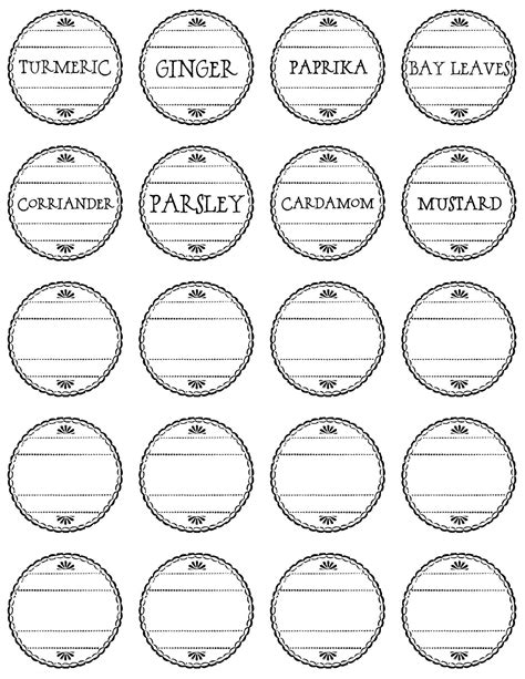 spice label templates to a pretty pretty spice labels