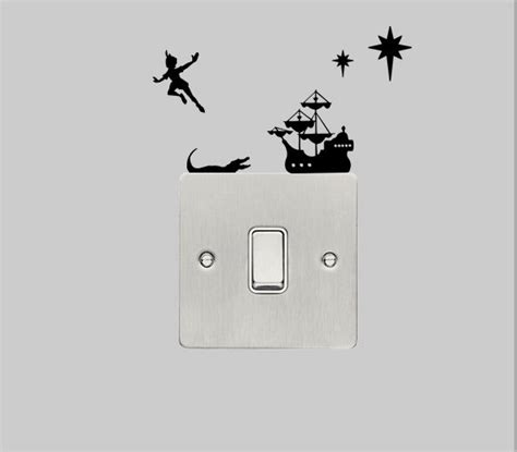 pan wall stickers wall decal pan with captain hook s ship 163 3 49 via etsy for me