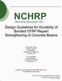 design criteria for beams design guidelines for durability of bonded cfrp repair