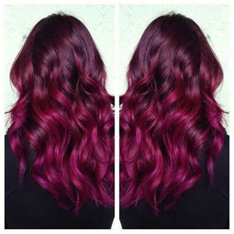 black hair to raspberry hair raspberry hair color love it hairspiration pinterest raspberry hair hair coloring and