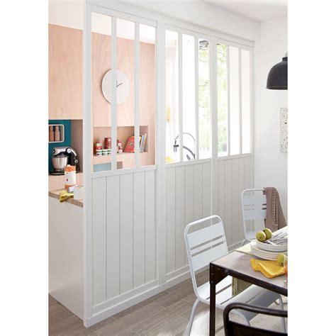 cloison pour cuisine cloison amovible atelier blanc h 240 x l 80 cm leroy merlin