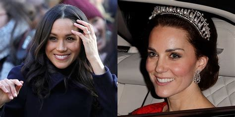 meghan markle what tiara did she wear here s why kate middleton can wear a tiara and meghan