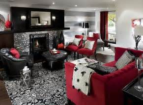 Red Black And White Room Living Room Design Red Living Room Colors