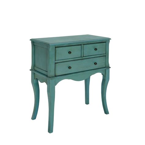 Teal Table L Furniture Of America Jonah Vintage Console Table In Antique Teal Idf Ac137tl