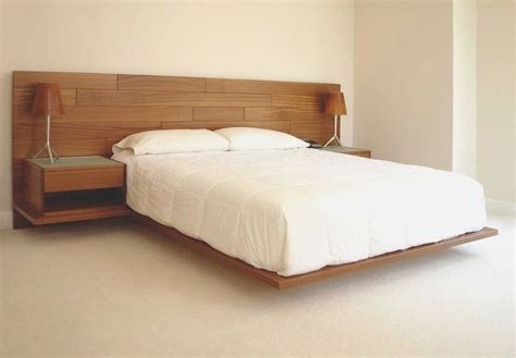 Floating Bed And Nightstands Long Headboard Adding Top Floating Bed Frame