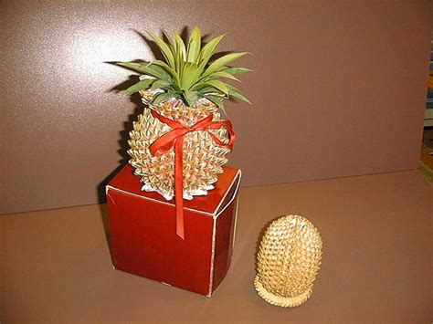 3d Origami Pineapple - 3d origami durian and pineapple 3dorigami