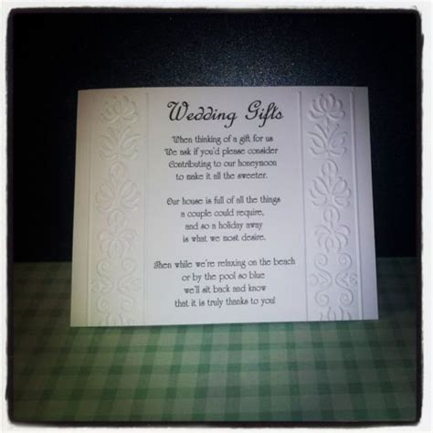 money wedding gift best 25 wedding gift poem ideas on pinterest honeymoon