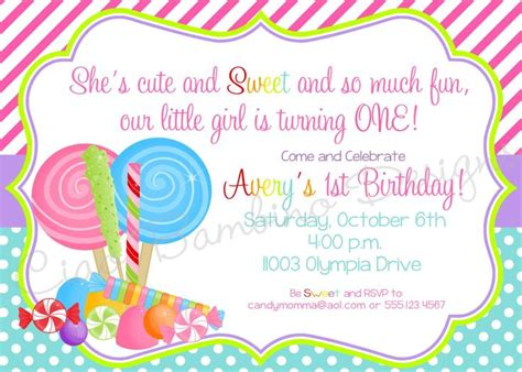 printable lollipop birthday invitations candyland lollipop invitations a n vite pinterest