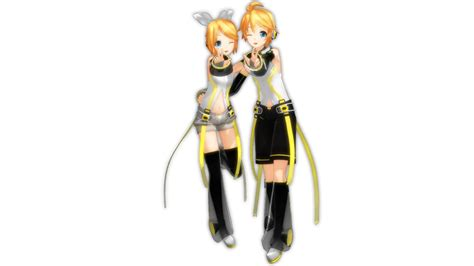 len 3d kagamine rin and len append muubu by lillyarabella on