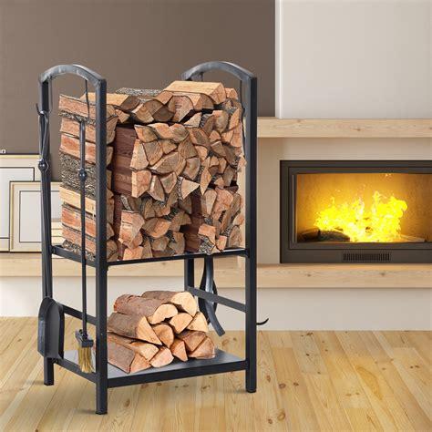 steel  tier heavy duty firewood rack indoor outdoor log
