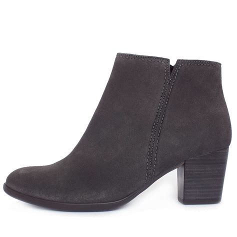 womans grey boots gabor boots greene s classic ankle boots in bronw