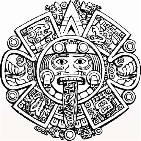 aztec calendar coloring page books worth reading aztec calendar coloring page printable coloring page