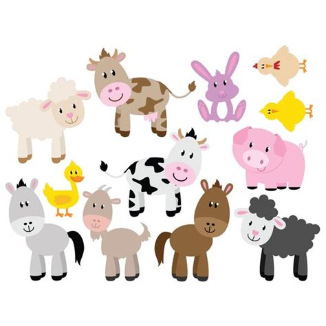 Childrens Room Wall Stickers farm animal set of 12 wall stickers wallstickers co uk