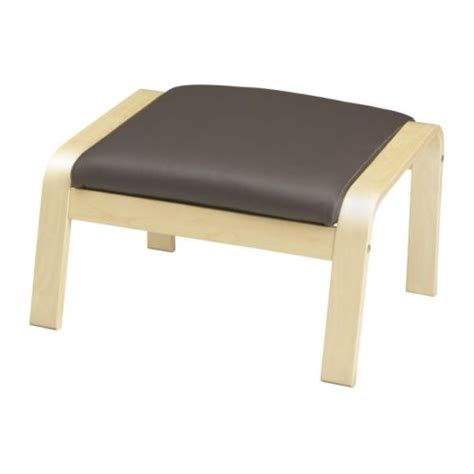POÄNG Footstool Glose dark brown IKEA