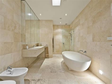 cream tiled bathroom ideas antique travertine honed filled wall and floor tiles