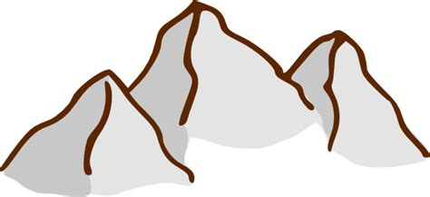 clipart montagna mountains clip at clker vector clip