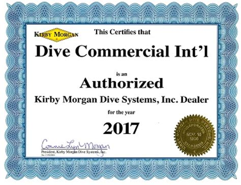 authorized dealer certificate 2017 authorized kirby 174 dealer certificate dive