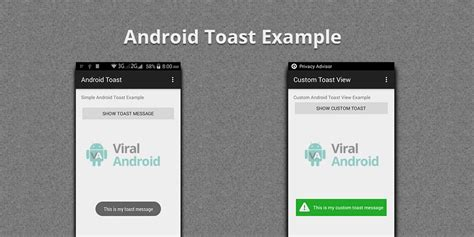 android toast exle android toast how to display simple toast message in android viral android tutorials