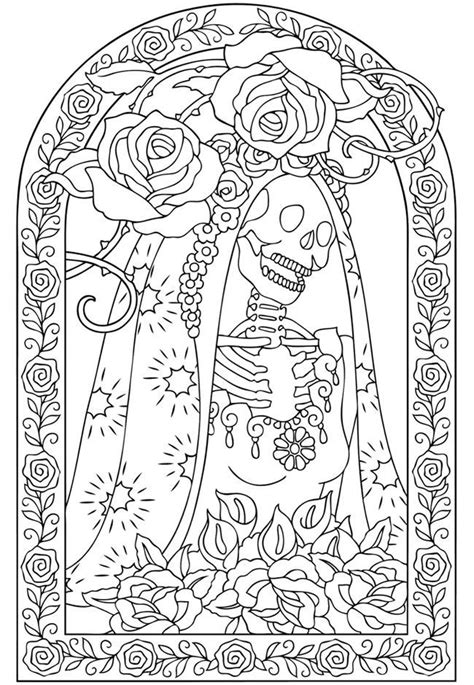 coloring pages dia de los muertos coloring home