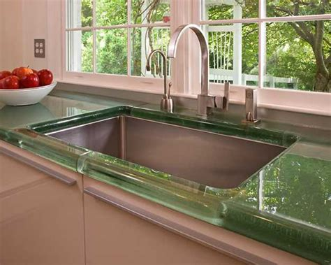 Green Countertops 40 Great Ideas For Your Modern Kitchen Countertop Material