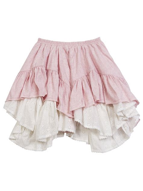frilled skirt paper wings pink frilled skirt