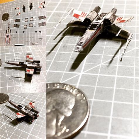 X Wing Papercraft - micro wars x wing fighter by otherwld on deviantart