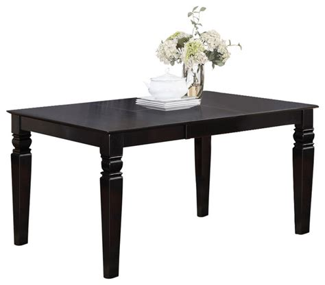 Black Dining Table With Leaf Weston Rectangular Dining Table With 18 In Butterfly Leaf In Black Traditional Dining Tables