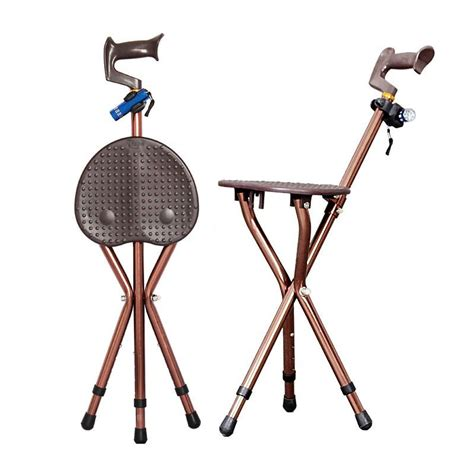 Portable Walking Chair Stool by Adjustable Folding Walking Chair Stool