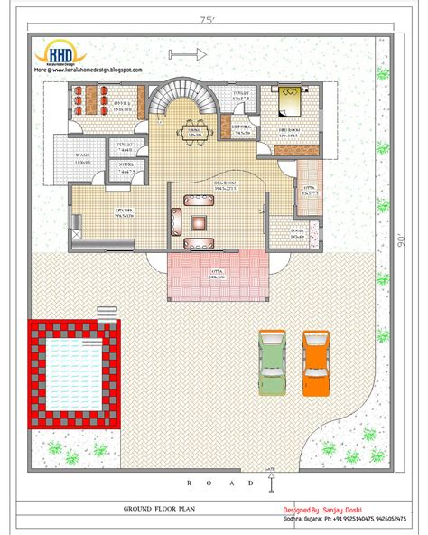 ground plan duplex house plan and elevation 4217 sq ft home appliance