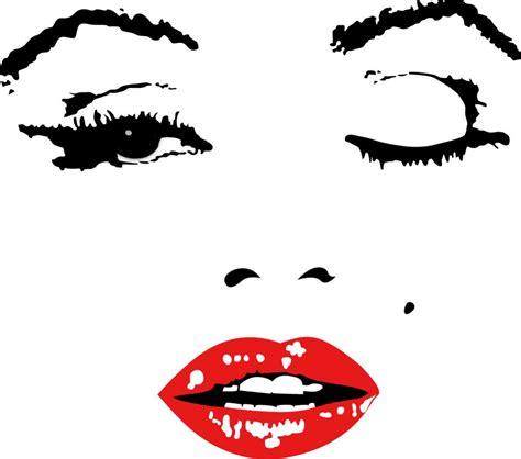 Stick On Wall Mural aliexpress com buy 110x90cm hot red clip marilyn monroe