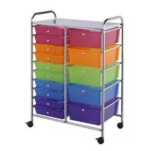 15 drawer rolling craft cart consumercrafts craft storage