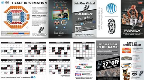 printable spurs schedule spurs pocket schedule the official site of the san