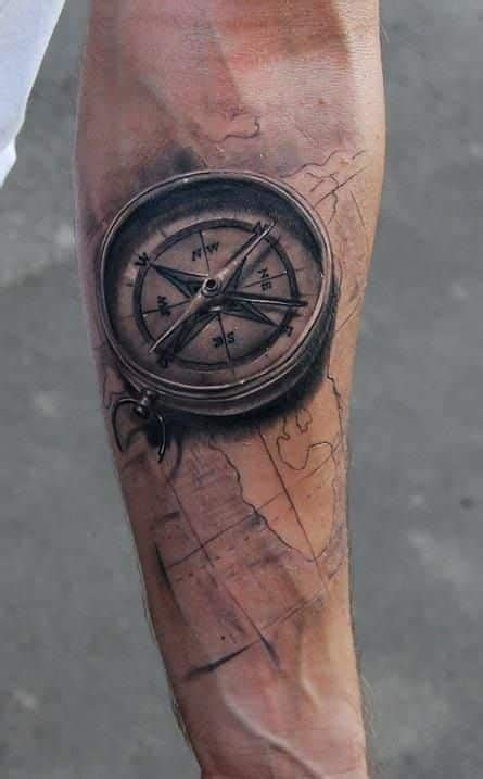 best small boat compass compass tattoos for men ideas and designs for guys