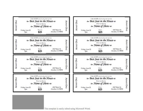 event ticket template 3 that s so random pinterest