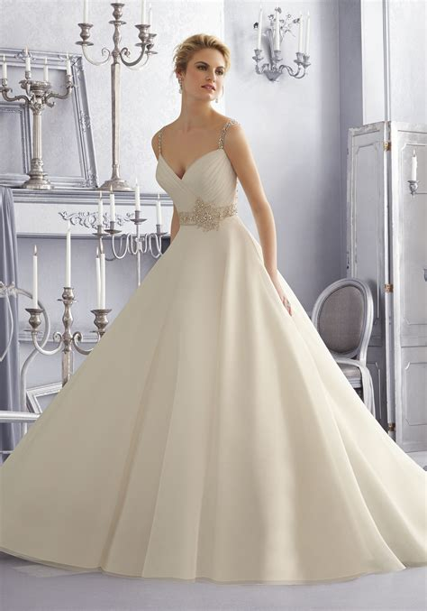 Organza Wedding Dress by Beaded Embroidery On Organza Wedding Dress Style