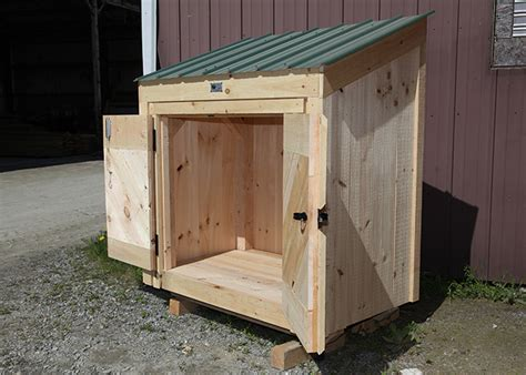 Shed 3x5 by Garbage Bin Storage Wooden Garbage Bin Jamaica Cottage