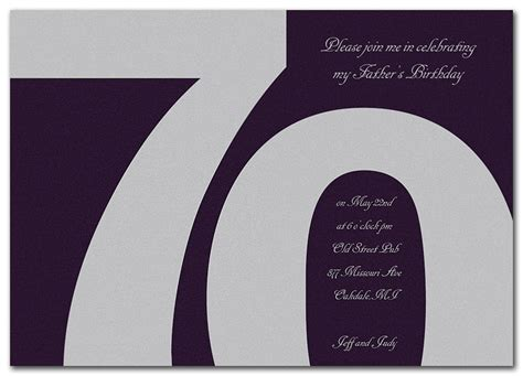 70th birthday invitations templates free classic at 70 birthday invitations by invitation