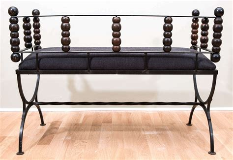 vintage wrought iron bench vintage wrought iron bench at 1stdibs