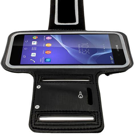 Running 0898 Casing For Sony Xperia M4 Aqua Hardcase 2d igadgitz reflective anti slip black sports armband for sony xperia m4 aqua with key