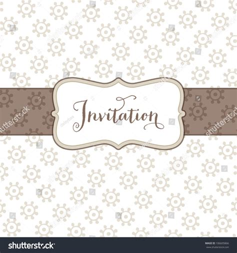 vector greeting card template with small floral print and