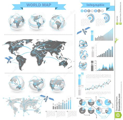 map design elements vector world map infographic royalty free stock images image